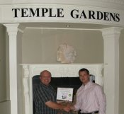 Russell Scott presents Matt Rouse @ Temple Gardens Mineral Spa Resort the 3000th Food Safety 1st certificate.
